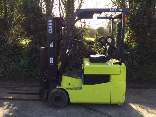 TMX18 - Clark 1 8ton three wheel electric forklift